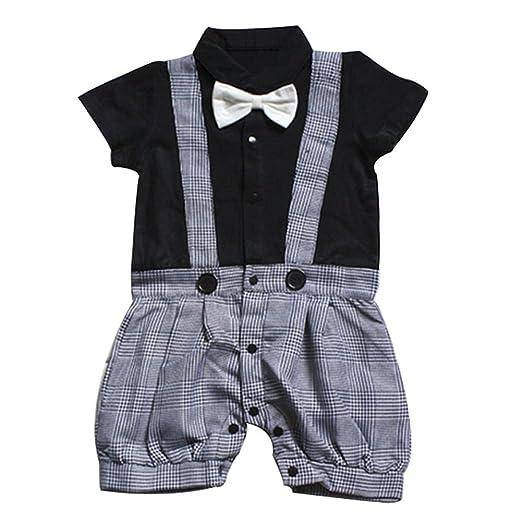 3 opinioni per Le SSara BabyBowtiegentiluomoBoys'nel complessoPlaidRomperestatevestito