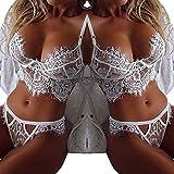 Doinshop Women Lingerie Set Lace Dress Babydoll Underwear G-string Sleepwear
