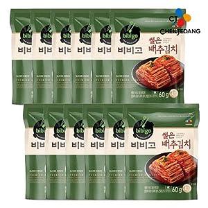 [ 12 Packs ] CJ Bibigo Korean Napa Cabbage Kimchi 배추김치 60g