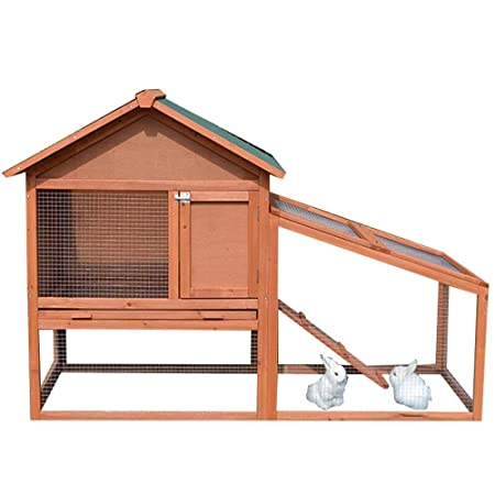 Caseta de perro Conejo grande al aire libre Hutch Pequeños ...