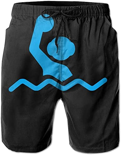BSKZ@SH Mens Beach Shorts Cool Water Polo Clipart 100/% Polyester Athletic Shorts