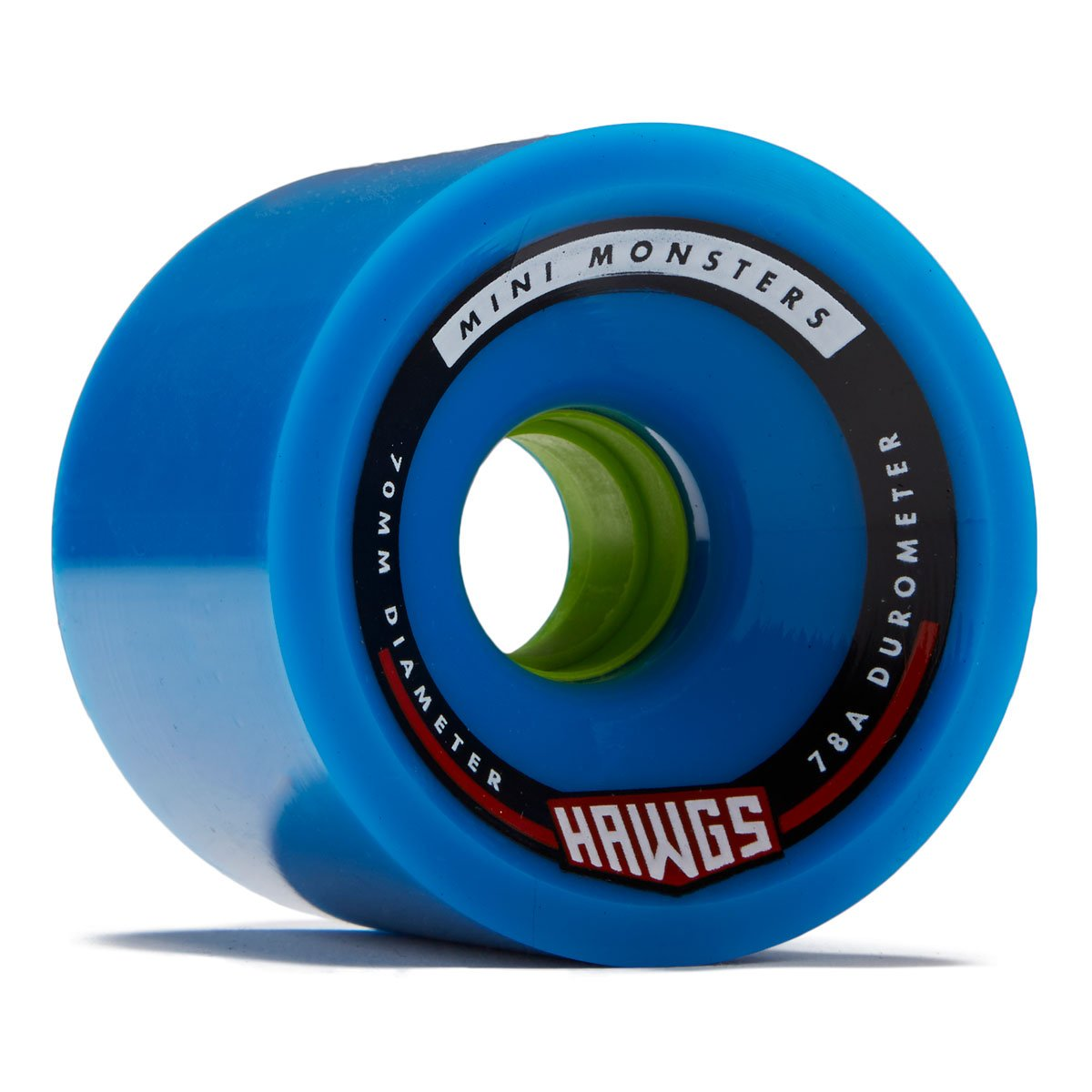 Ruedas Hawgs Mini Monsters Longboard - 70 mm - 78a - Azul