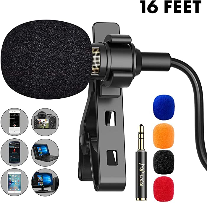 Updated 2021 – Top 10 Lavalier Lapel Microphone Omnidirectional Condenser Mic For Apple