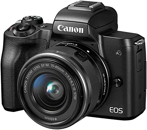 Canon EOS M50 24.1 MP 4K Mirrorless Camera w/15-45mm EF-M Lens