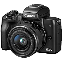 Canon EOS M50 Mirrorless Camera Kit with 15-45mm lens(Black)