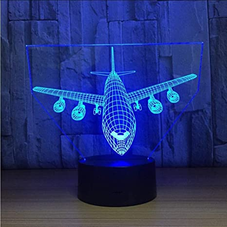 Airplane Boeing 737 Airplane Mode Air Plane Decor Night Lamp Night Light 3D Light 3D Illusion LED Lamp Gift for him Gift Idea Boeing Kids