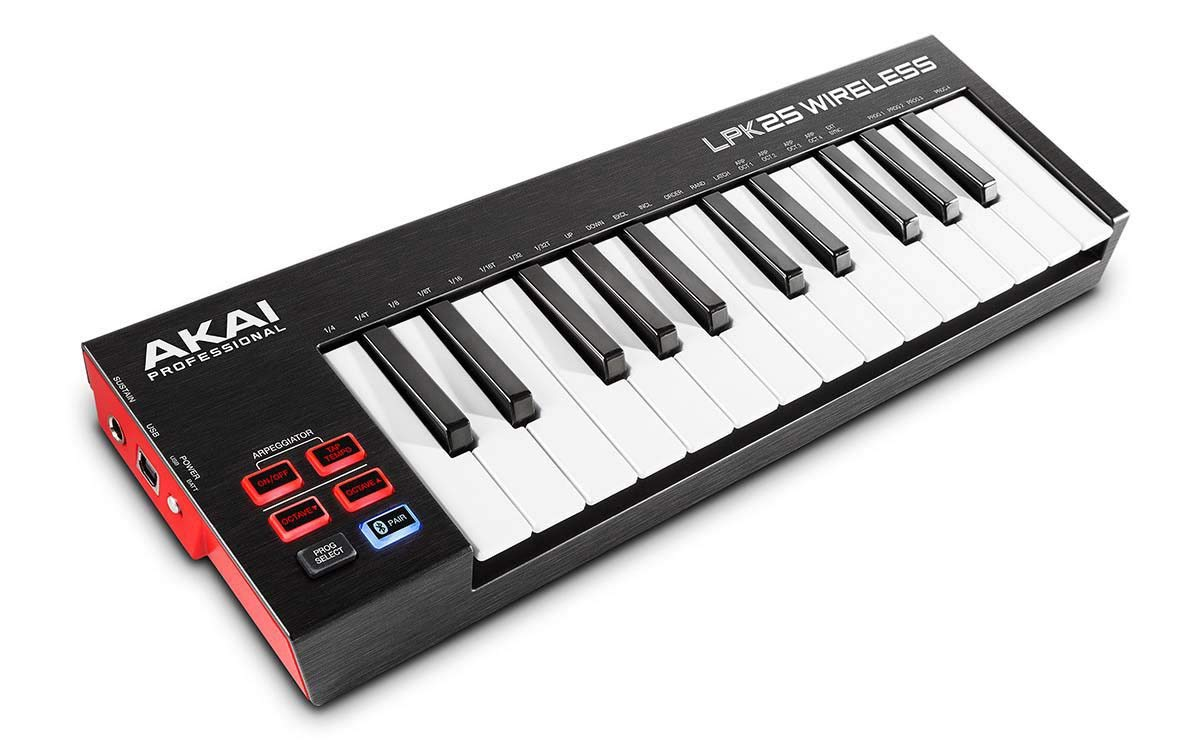 Akai Professional LPK25 Wireless | 25 Mini-Key Bluetooth MIDI Keyboard for iOS, PC, Mac with Sustain Pedal Input