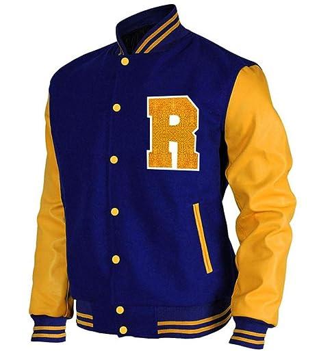 Chaqueta Bomber de Riverdale Archie Andrews KJ APA Varsity Letterman R de Cuero para Hombre y Mujer: Amazon.es: Ropa y accesorios