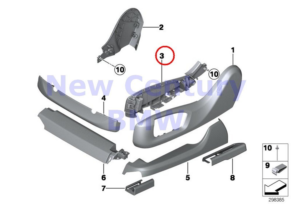 BMW Genuine Seat Front Seat Coverings Seat Outer Left Support For Cover 740i 750i 750iX ALPINA B7 ALPINA B7X 740LdX 740Li 740LiX 750Li 750LiX 760Li ALPINA B7L ALPINA B7LX Hybrid 7L 535i 535iX 550i 550