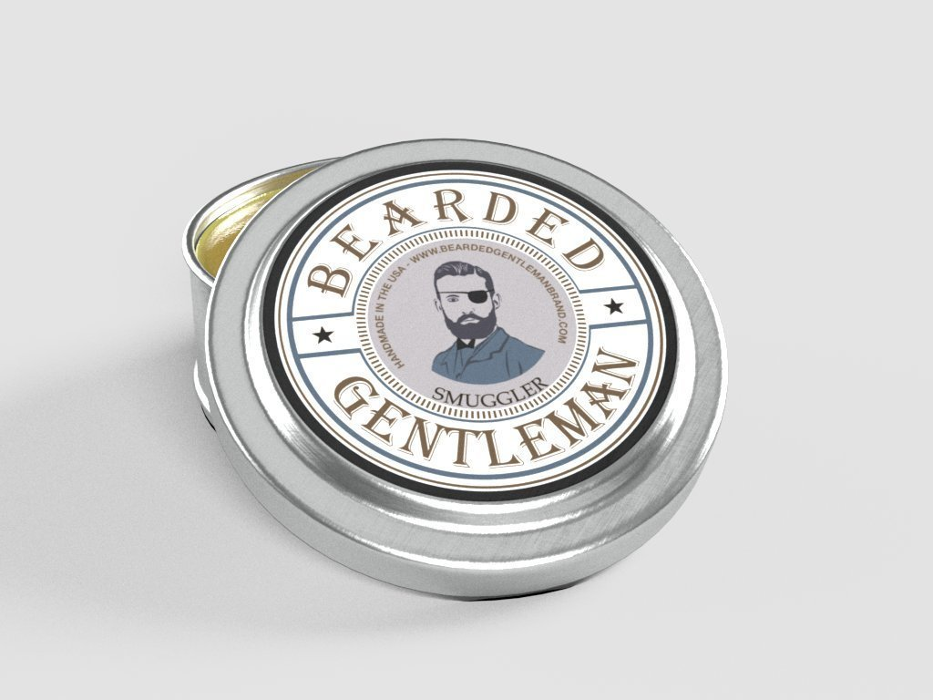 Bearded Gentleman - Men's Solid Cologne: Smuggler - (Clove, Pepper, Nutmeg with Vanilla) | All Natural | 1 oz | Handmade | Traditional Scent | Double the amount of any competitor!