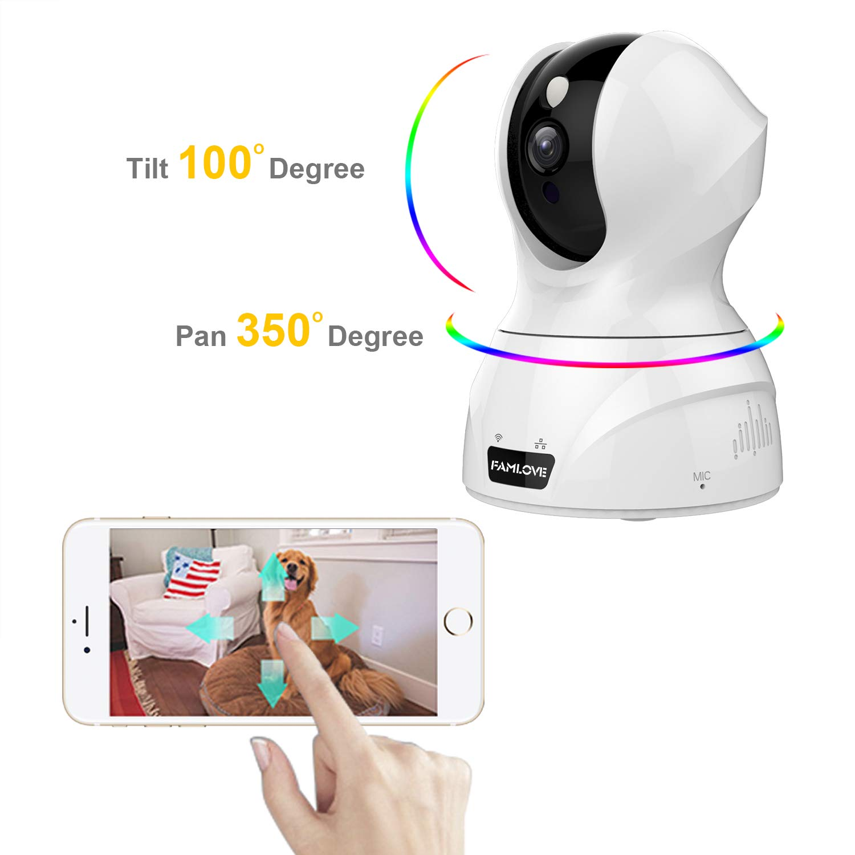 1536P 3MP Cámaras IP de vigilancia de Seguridad Interior WiFi inalambrico Trabaja con Alexa Almacenamiento en la Nube Pan/Tilt/Zoom Motion Detection/Audio ...