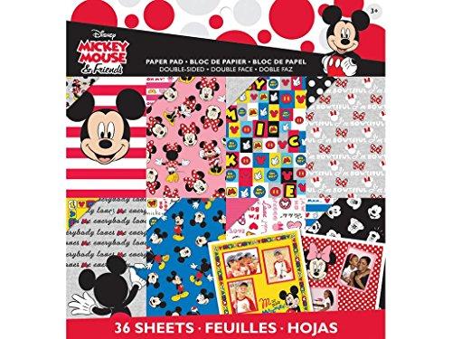 Ek Success Disney Paper (EK Success EK Disney Paper Pad 12x12 Mickey Friends Mickeyfriend)