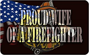Makoroni - PROUD WIFE OF A FIREFIGHTER Firefighter Fireman Des#2 Refrigerator Wall Magnet 2.75x3.5 inc