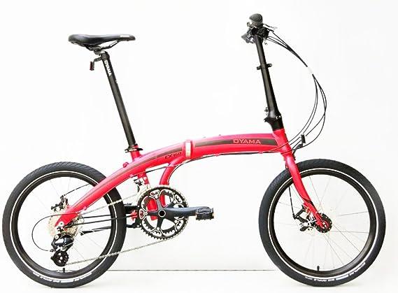 Oyama CX 16d mate rojo bicicleta plegable bicicleta: Amazon.es ...