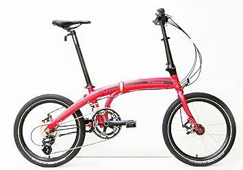 Oyama CX 16d mate rojo bicicleta plegable bicicleta