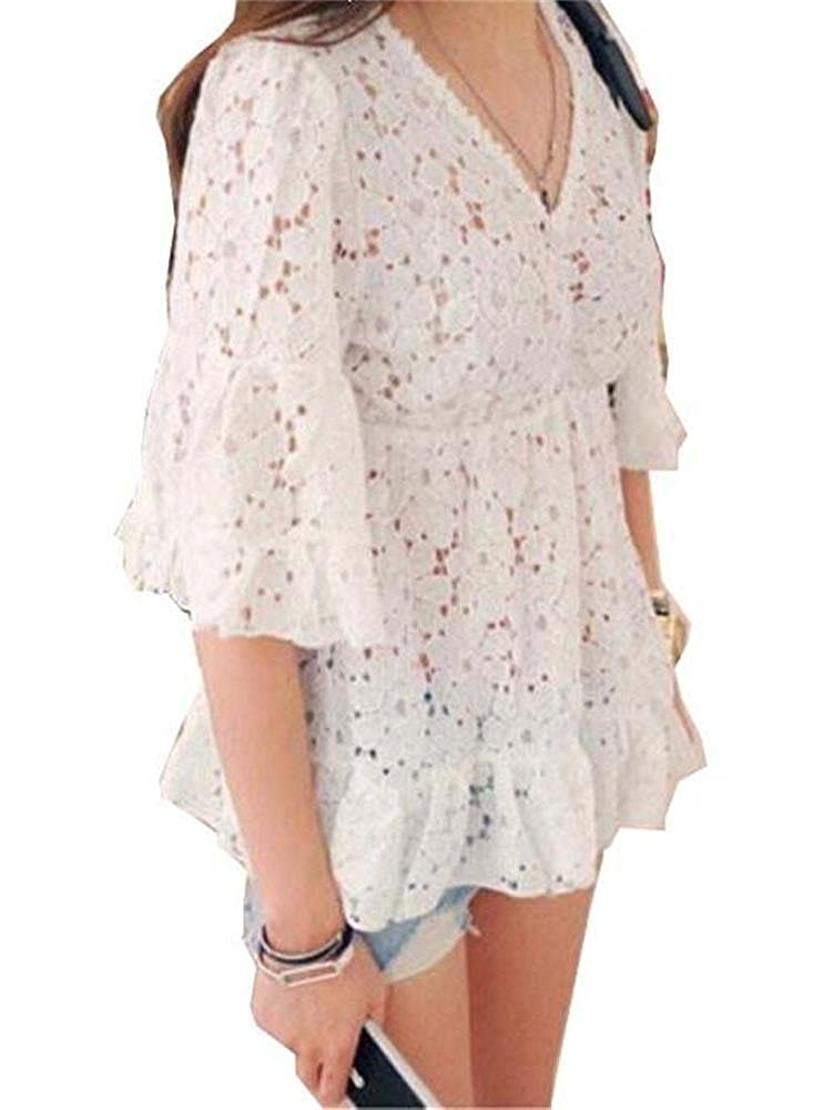 2f1d65c70 Angel Lily lace Tunic empire waist Baby Doll blouse plus1x-10x(SZ16 ...