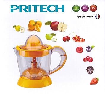 Prensa Exprimidor de cierre automático 1.2L 40 W Pritech naranja: Amazon.es: Hogar