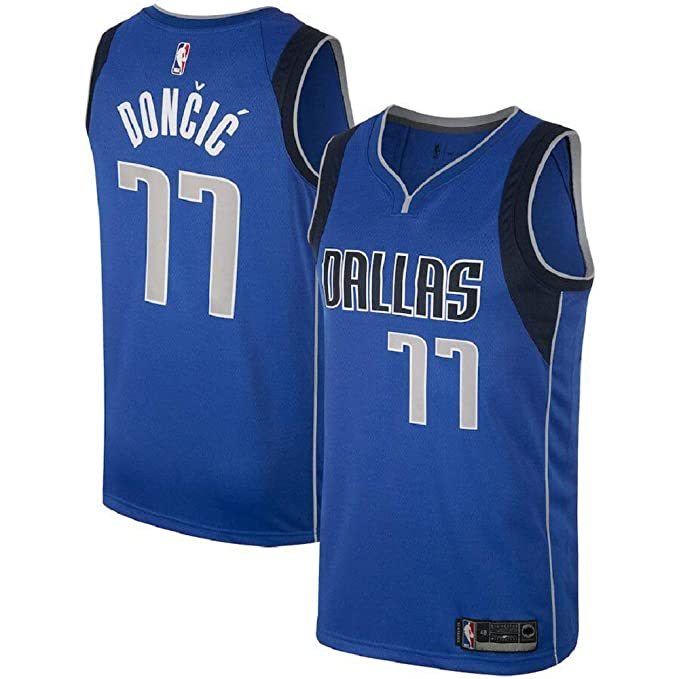 buy online 748a9 98ff7 Men's Luka Doncic Dallas Mavericks #77 Blue Swingman Jersey