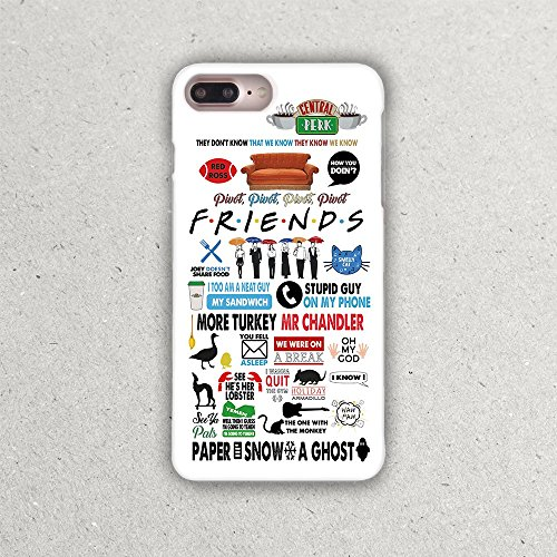 TV Show Friends Phone Case for Apple iPhone 10 X 8 8s 8plus 7 6 6S 6plus 7plus 6splus 7plus 7s Plus 4 4S 5 5S 5C SE 5se Cases Pivot Central Perk How You Doin Fandom t-shirt Phone Protective Cover