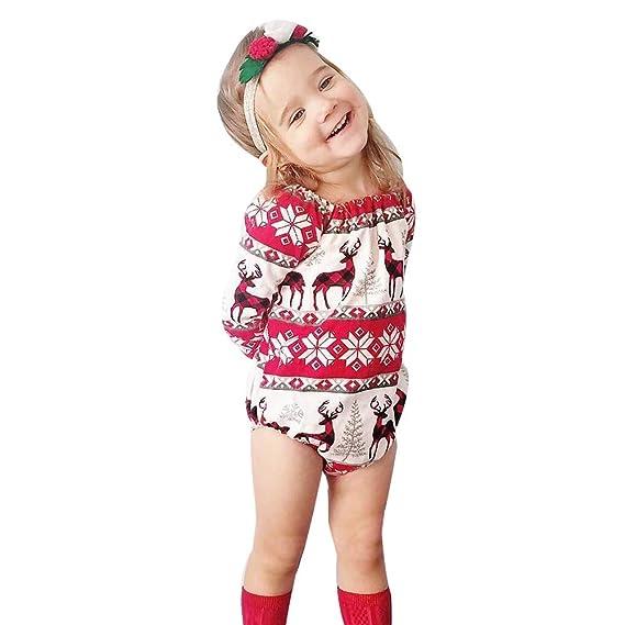 Ropa Bebe Recién Nacido, 🌈 Btruely Ropa de algodón Navidad recién ...