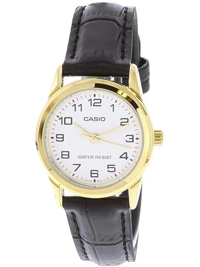 Casio LTPV001GL-7B - Reloj para Mujeres, Correa de Cuero: Casio: Amazon.es: Relojes