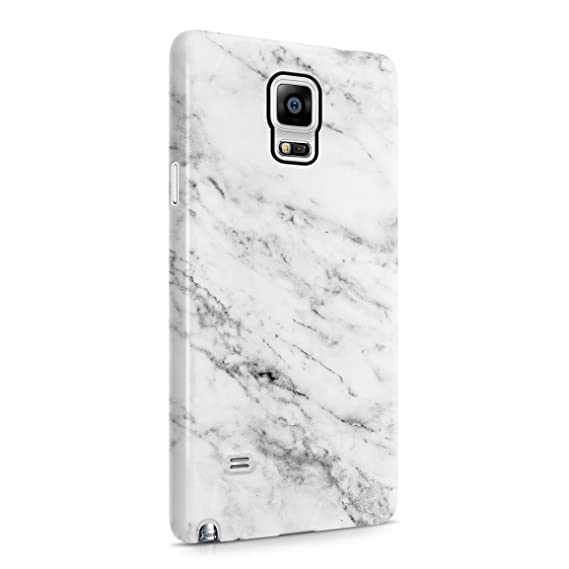 new arrival 3e41c 2ff1b Solid White Original Marble Print Hard Plastic Phone Case For Samsung  Galaxy Note 4