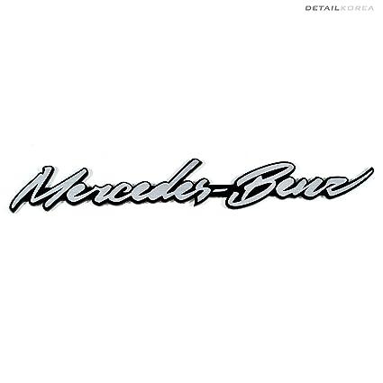 Detailkorea Car Name Cursive Lettering Emblem For Mercedes Benz AMG