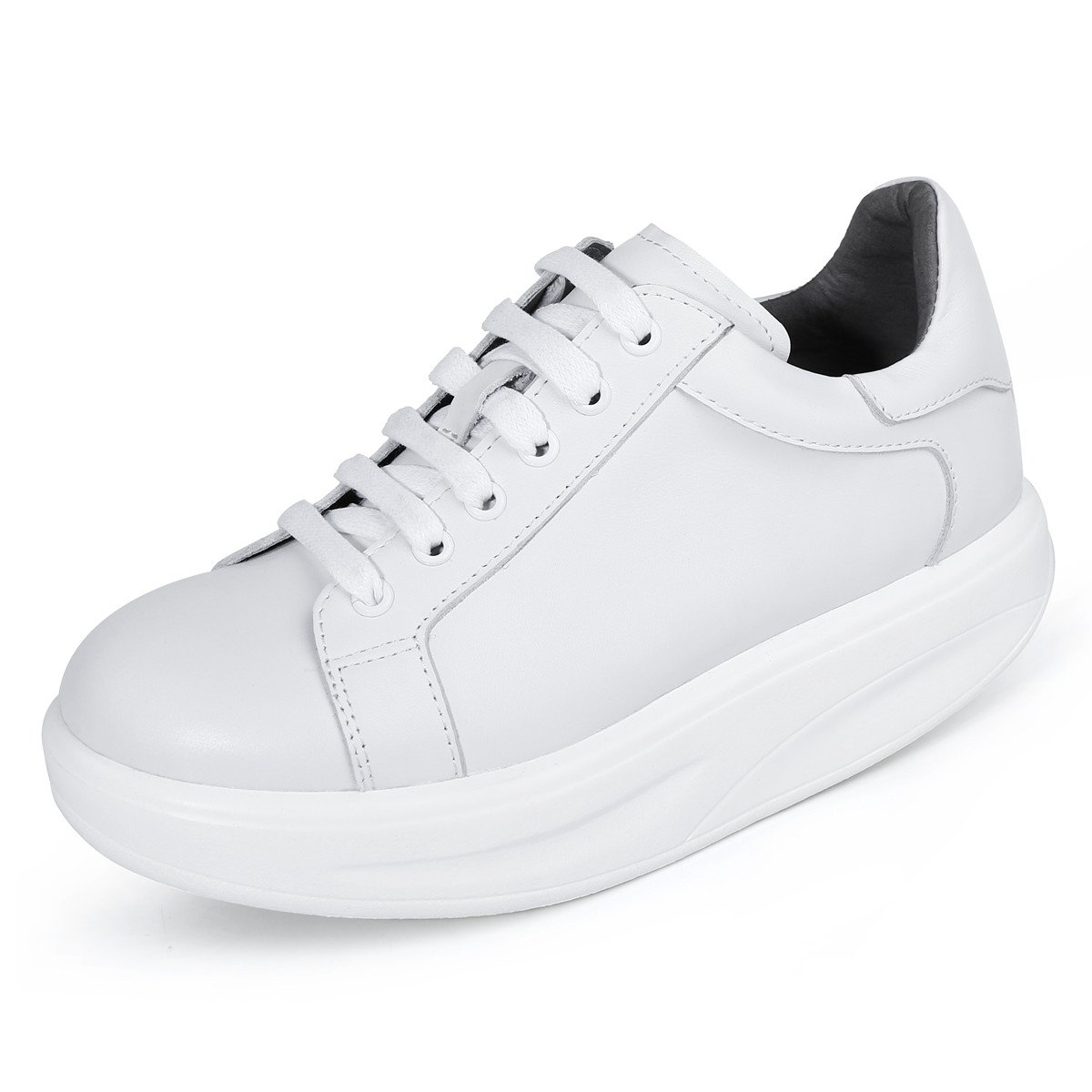 RoseG Femme Cuir Lacets Plateau Blanc Sneakers Derby Plateforme Décontractée Sneakers 316 Blanc 27a24d2 - piero.space