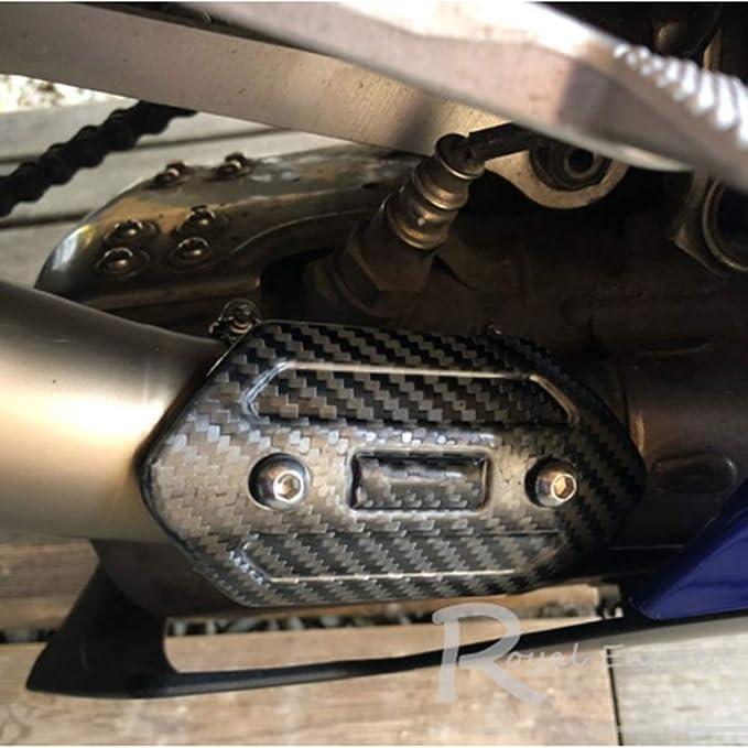 Mgod Motorrad Auspuff Hitzeschild Aus Kohlefaser Schalldämpfer Schutzkappe Schöne Korrosionsbeständigkeit Dauerhafte Wärmeisolierung Hs 01 Auto