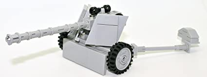 Modern Brick Warfare WW2 German 7 5cm PAK 40 Anti-Tank Gun Custom Kit