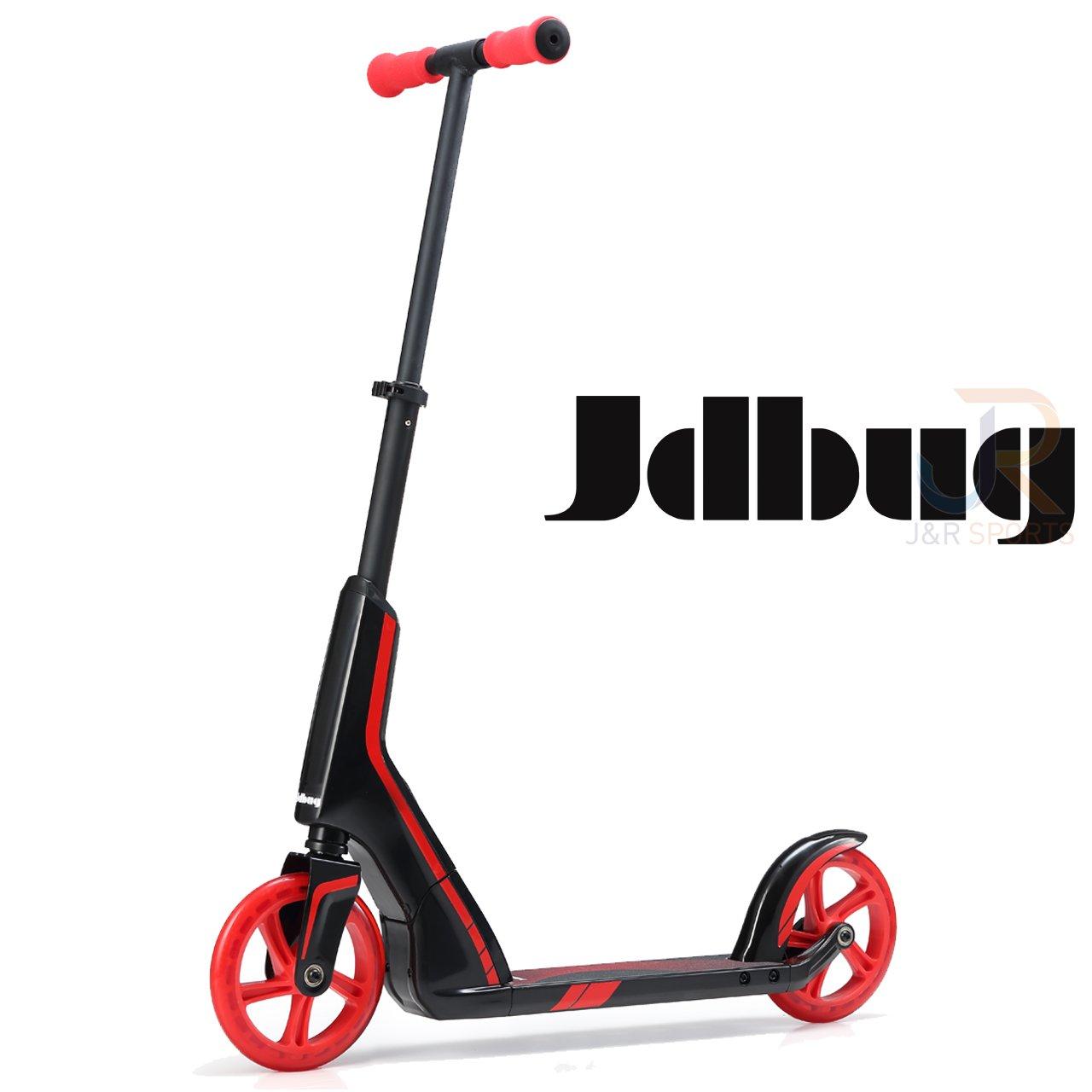 JDバグプロ通勤スクーター - ブラック/レッド