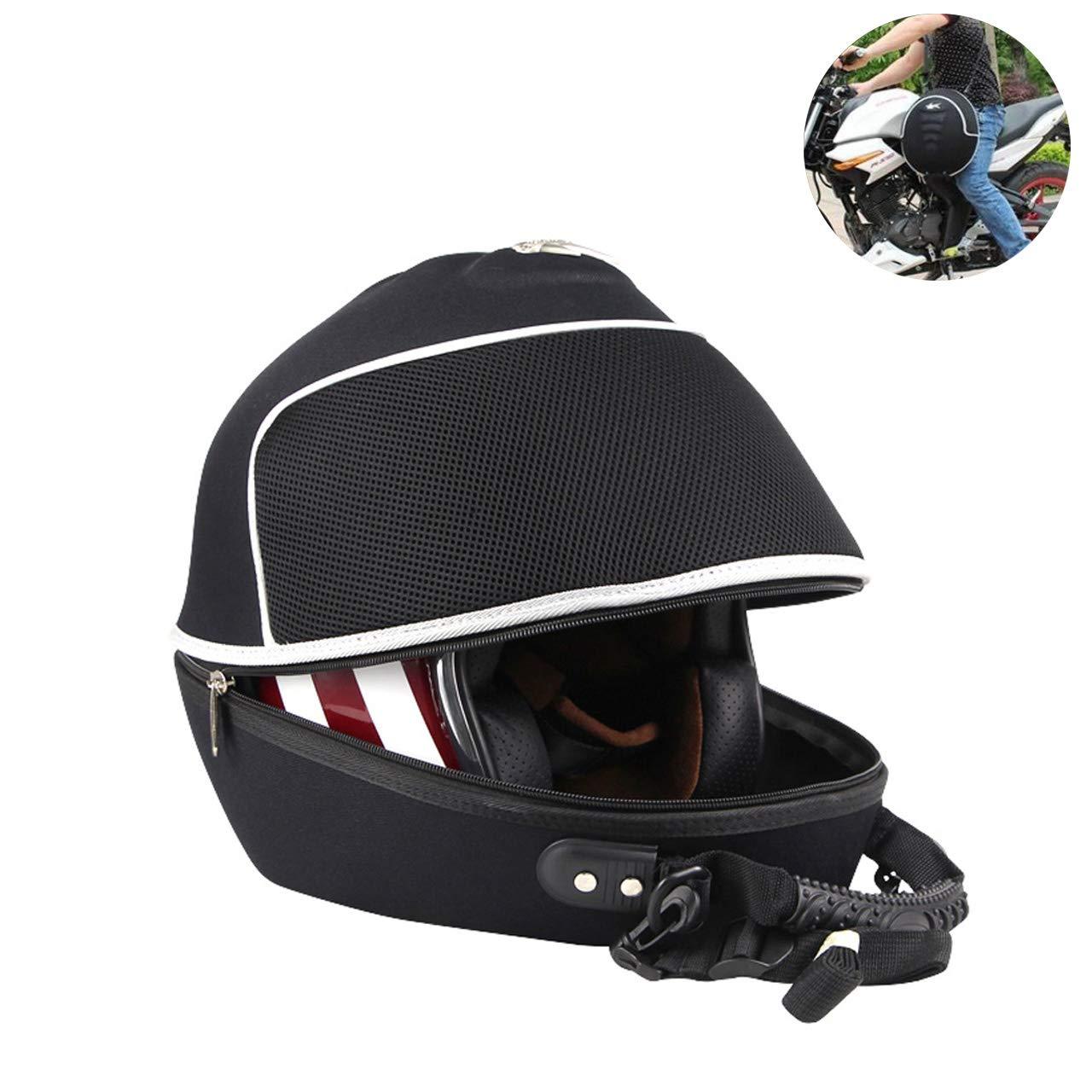 NATGIC Motorcycle Helmet Bag Water-Resistant High Capacity Motorcycle Helmet Bag Ride Bag Travel Training Bags Racing Bags Multifunction Backpack Tool Bag - New Black