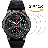 Samsung Gear S3 Screen Protector [3 Pack], UCMDA Tempered Glass Screen Protector for Samsung Gear S3 Frontier and Classic Smartwatch [9H Hardness] Anti-Scratch Film