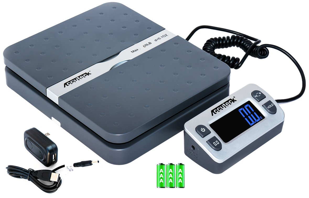 Accuteck ShipPro 110lbs x 0.1 oz. Digital Shipping Postal Scale, Gray (W-8580-110-Gray) by Accuteck ShipPro: Amazon.es: Oficina y papelería