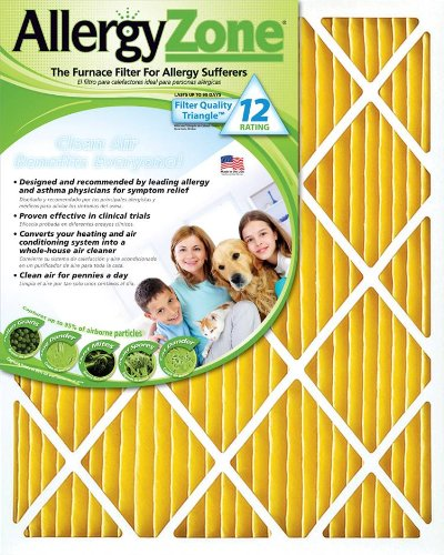 Housing 1 Heater (AllergyZone AZ16251 Air Filter for Allergy Sufferers, 16 x 25 x 1