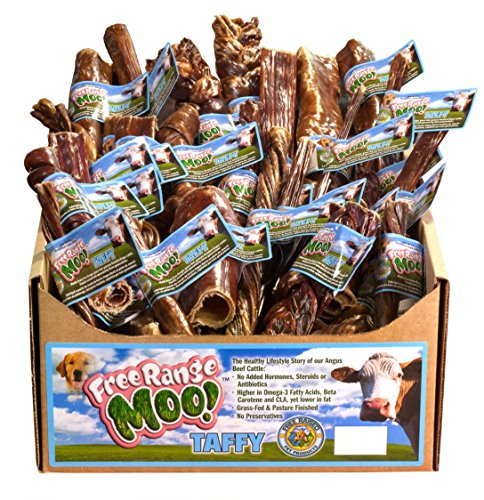 Free Range Moo! Multi-Pack of Moo Taffy (Trachea, Springs, Rings, Sticks, and Chips) [30-Pack]