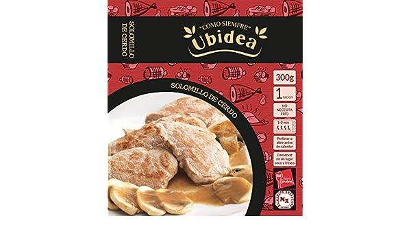 Solomillo de Cerdo en Salsa de Hongos - Ubidea - 3 platos: Amazon.es: Alimentación y bebidas
