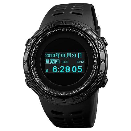 WATCH GYQ@ Reloj de grabación multifunción Reloj de Alarma Impermeable al Aire Libre con brújula