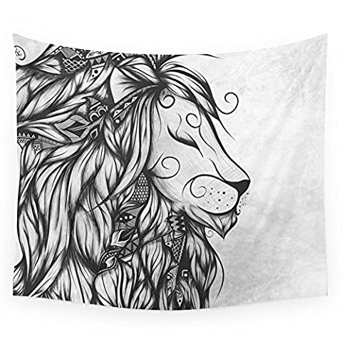 Society6 Poetic Lion B&W Wall Tapestry Small: 51