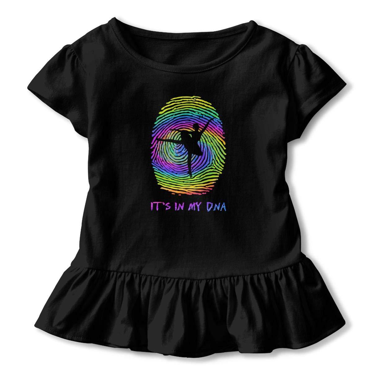 CZnuen Its in My DNA Ballet 2-6T Baby Girls Cotton Jersey Short Sleeve Ruffle Tee
