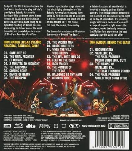 En Vivo [Blu-ray]: Amazon.es: Iron Maiden: Cine y Series TV