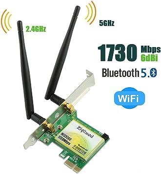 Amazon.com: Ziyituod Tarjeta WiFi, 802.11AC 1730 Mbps ...
