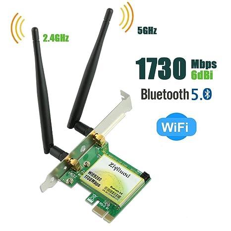 Ziyituod Tarjeta WiFi | Bluetooth 5.0/AC1730Mbps Wireless ...