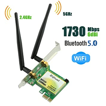 Ziyituod Tarjeta WiFi | Bluetooth 5.0/AC1730Mbps Wireless ...