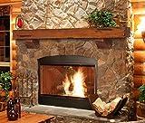 fireplace mantel shelves  412-60-50 Shenandoah Pine 60-Inch Fireplace Mantel Shelf, Rustic Medium