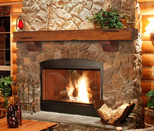 Pearl Mantels 412-60-50 Shenandoah Pine 60-Inch Fireplace Mantel Shelf, Rustic Medium ()