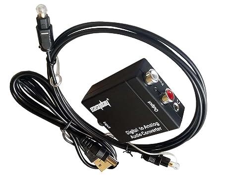 easyday Conversor de audio digital a analógico corriente – óptico Toslink coaxial digital a RCA 3