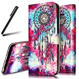 Galaxy S9 Stand Case,Samsung Galaxy S9 Wallet Case,Galaxy S9 Flip Case,SKYMARS Samsung Galaxy S9 2018 Cover Marble Creative Design PU Leather Flip Kickstand Cards Slot Wallet Magnet Stand Case for Samsung Galaxy S9 2018 Dreamcatcher
