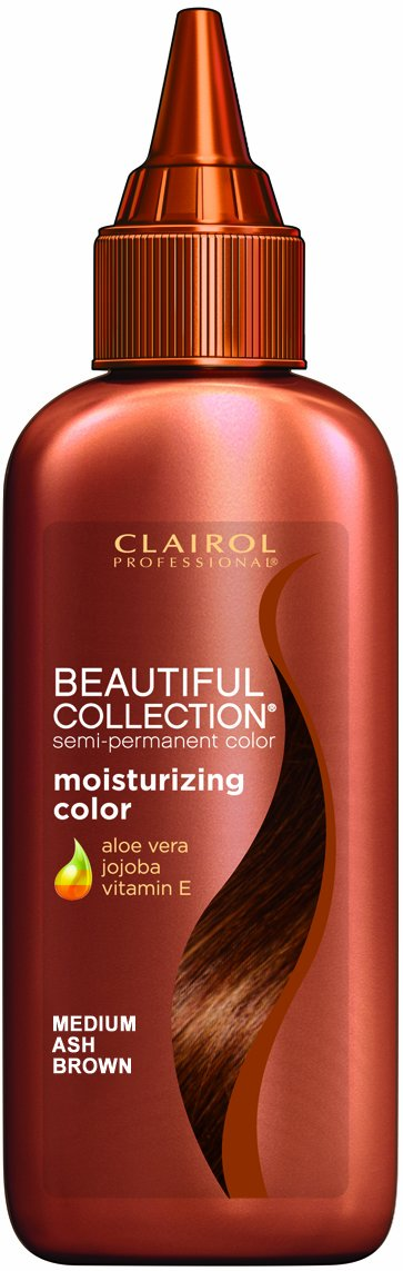 Hot Clairol Beautiful Collection Hair Color - #12 - Medium Ash Brown 3 oz. (Pack of 6) free shipping