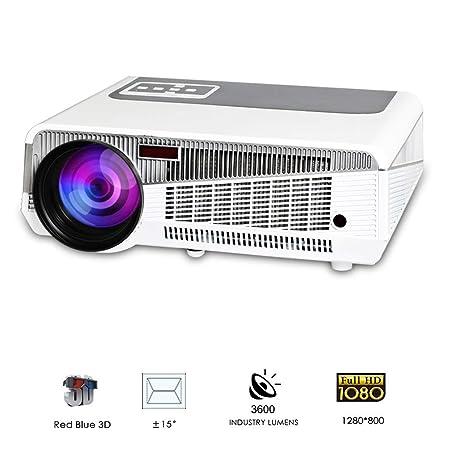 QLPP HD proyector Digital 1080p al Aire Libre Interior 3600 ...